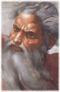 Michelangelo's image of God, from the Sistine Chapel, courtesy of Wikipedia